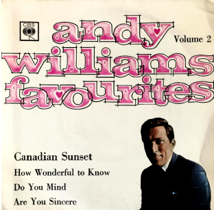 "Andy Williams ‎- Andy Williams Favourites Volume 2 EP (7"") (VG/VG-)"